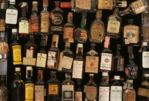 Miniature-whiskey-bottles
